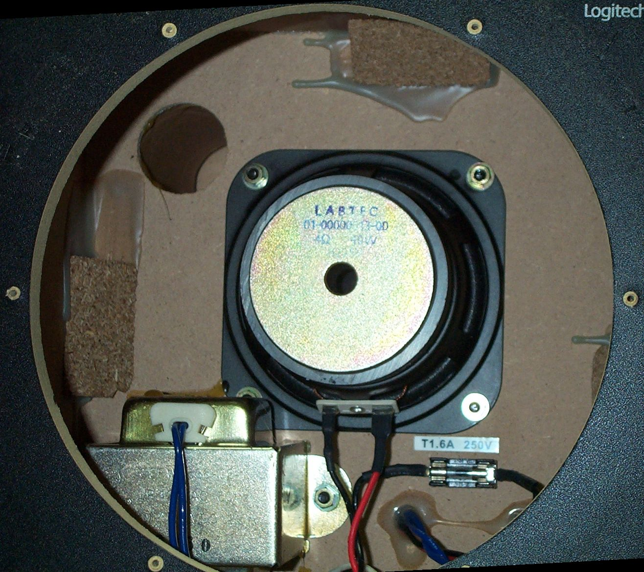 inside casing logitech z 640 subwoofer mod Sub and Amp Wiring Diagram at n-0.co
